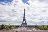 view on Eiffel tower in Paris