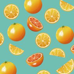 orange fruit fresh seamless pattern design vector illustration eps 10