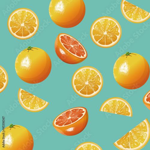 pomarańczowa owoc świeża bezszwowa deseniowa projekta wektoru ilustracja eps 10