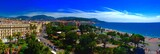 Nice France coastline and city