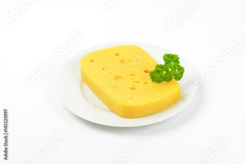 emmental cheese with holes