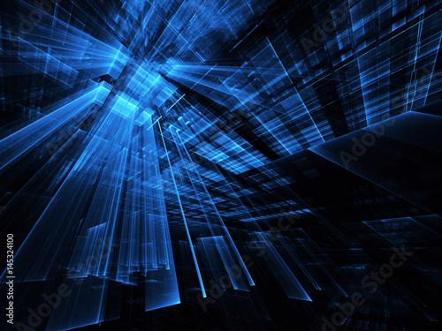 Abstract technology illustration, 3D illustration - 145324100