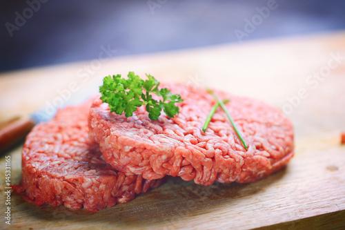 Foto op Canvas Steakhouse steak haché