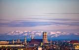 München Stadtpanorama Skyline - 145338548