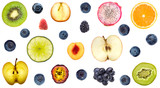 Collection of colorful fresh fruits background - 145339977