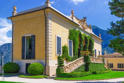 Plakat Loggia di Balbianello at villa Balbianello, Como lake, Italy.
