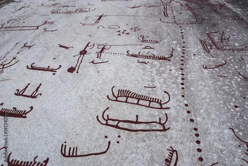 Rock carvings in Tanum Poster