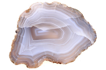 natural agate isolated