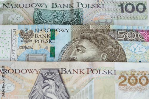 Polskie pieniądze / najwyższe nominały.