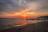 Sunrise on Lake Michigan in Milwaukee