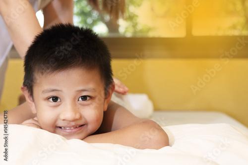 Asian boy massage