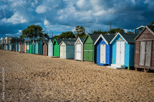 2016 United Kingdom Mersea colorful houses on the coast Poster