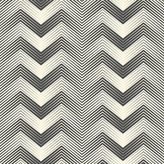 Seamless Zig Zag Pattern. Abstract Black and White Line Background