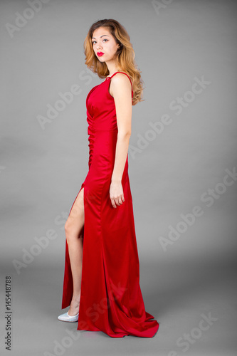 Fashionable pretty sexy young blonde woman