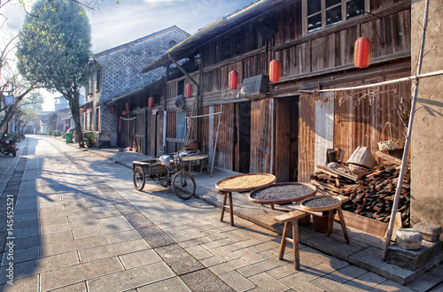 Staande foto Guilin Morning in the Chinese Village