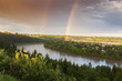 Rainbow over North Saskatchewan River