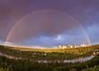 Rainbow over Edmonton