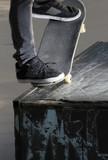 Skateboarding trick detail