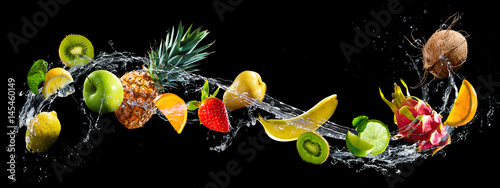 Fruits with water splash - 145460149