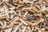 Сhopped firewood background texture
