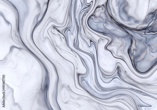 Gray abstract wave psychedelic background - 145467785