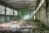 Abandoned Building Interior in school in Prypiat town in Chernobyl Zone. Chornobyl Disaster