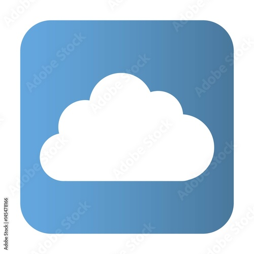 Cloud icon over white background. vector illustration