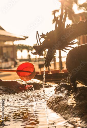 Foto op Plexiglas Japan Japanese Temple Wash Hand