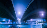Fototapety elevated express way at night time