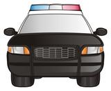 Police, car, cartoon, police car, american, law, transport, patrol, siren, black, nine one one, street, security,