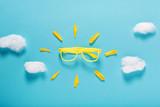 Sunshine sunglasses concept