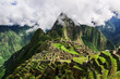 Machu Picchu, a Peruvian Historical Sanctuary in 1981 and a UNESCO World Heritage Site in 1983. One of the New Seven Wonders of the World. Lost city of Inkas in Peru mountains