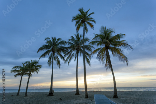 Sunrise at the beach in Florida Poster