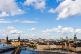 A panoramic photo of the city of Stockholm in Sweden.