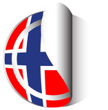 Flag icon design for Norway
