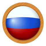 Round icon for flag of Russia