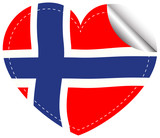 Sticker design for flag of Norway