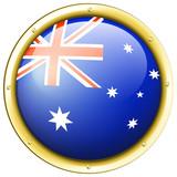 Badge design for Australia flag