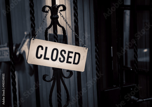 Foto op Plexiglas Amsterdam closed sign on a door