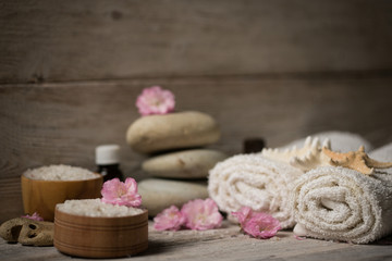 Items for spa, towels