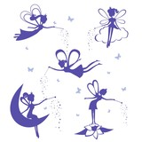 Fairy Silhouette  Set Wall Sticker
