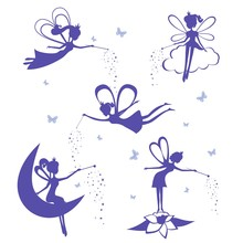 Fairy Silhouette  Set Sticker