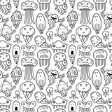 Seamless vector pattern with jellyfish - 145529959