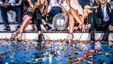 Fototapety Friends having party in a nightclub