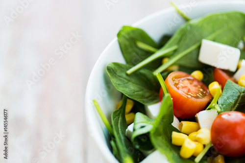 close up of vegetable salad in bowl