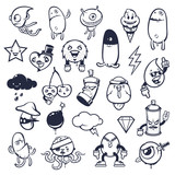 Doodle Graffiti Monsters Set