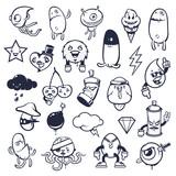 Doodle Graffiti Monsters Set - 145548532