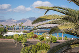 Touristic town of Playa Blanca, in Lanzarote, Canary Islands, Spain
