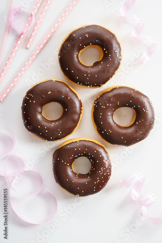 Poster chocolate donuts