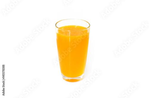 Aluminium Sap Orange juice on white background